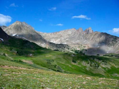 Static Peak and Nokhu Crags...