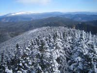looking out towards Mt. Washington