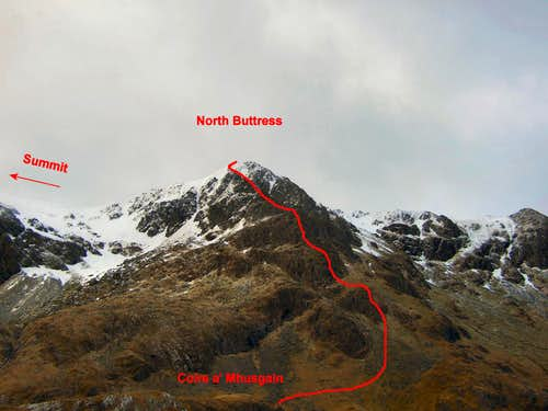 North Buttress photo-topo