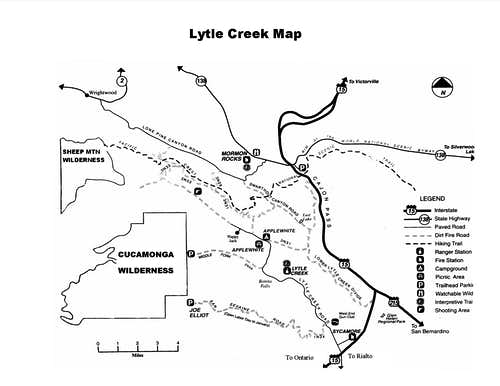 Lytle Creek Map