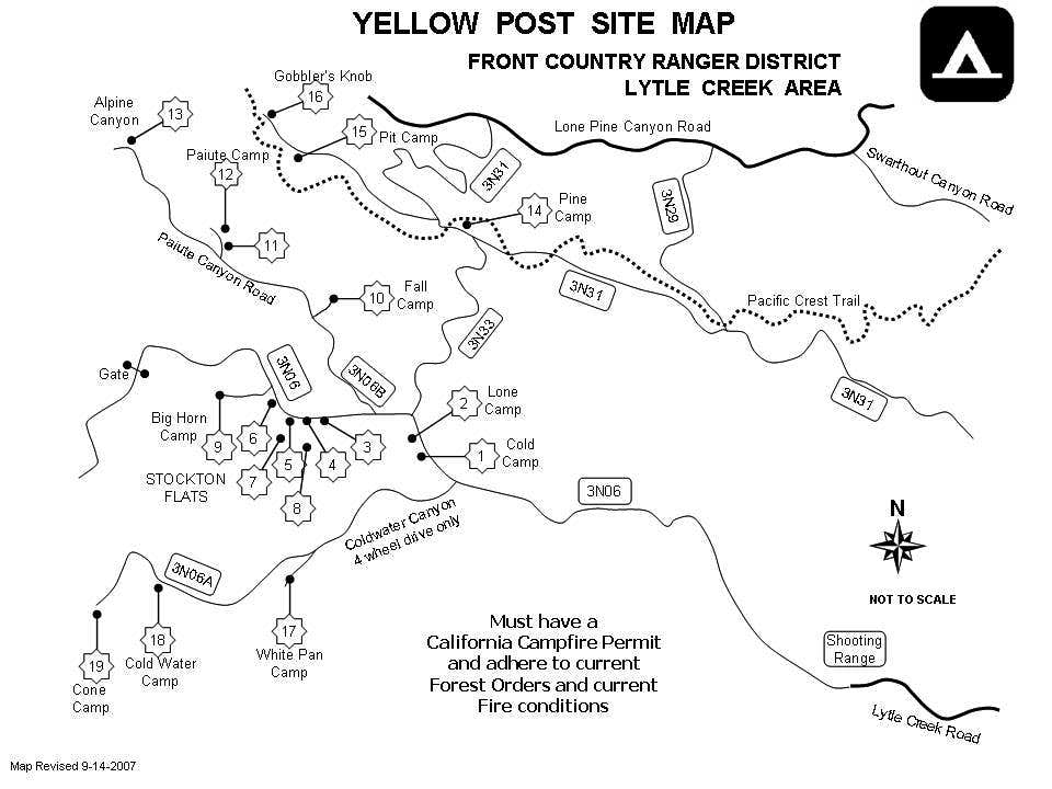 Lytle Creek dispersed camping sites
