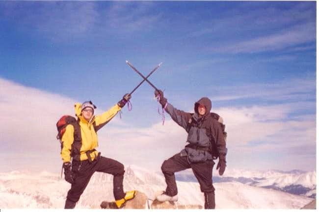 Ryan and I on the summit with...