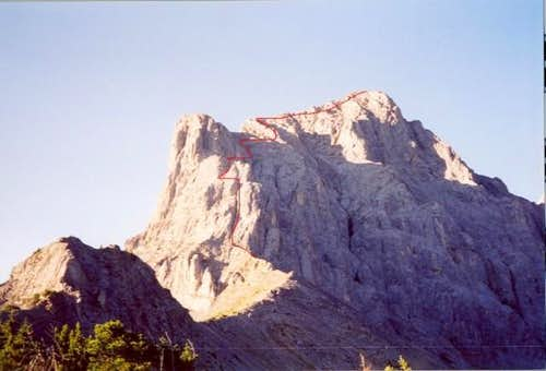 N Buttress Right Hand Crack system