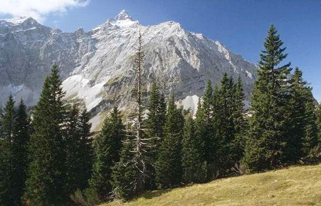 Birkkarspitze seen from...