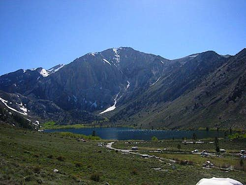 Laurel Mountain towers over Convict Lake
