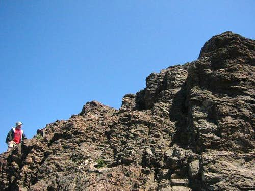 Easy Scrambling up to Devil\'s Pulpit
