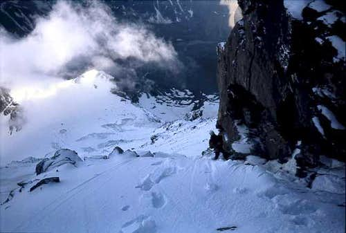 At the begin of the couloir