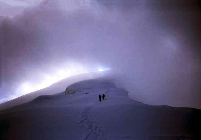 The last meters before the summit.
