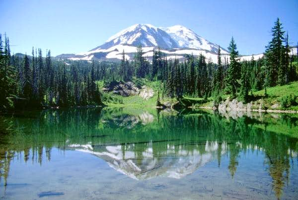 Mt. Adams from the same lake...