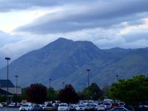 Looking North From Orem Utah at Mahogany Mountain.