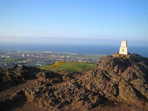 Very few people around on such a cracking evening. Arthurs Seat summit. 13th May 2008