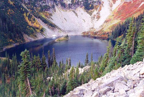 Lake Ann as seen from the...