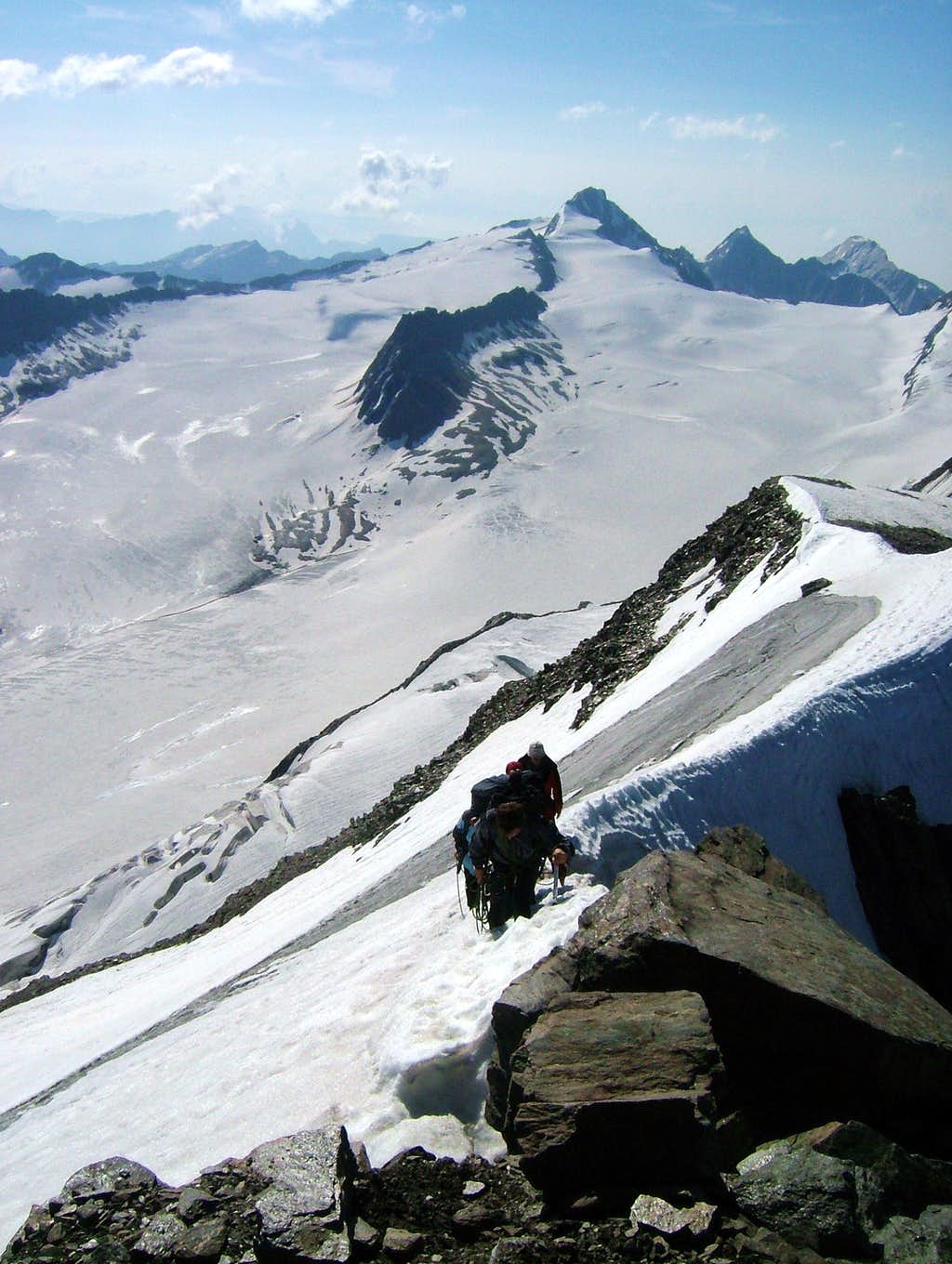 A group reaching the summit