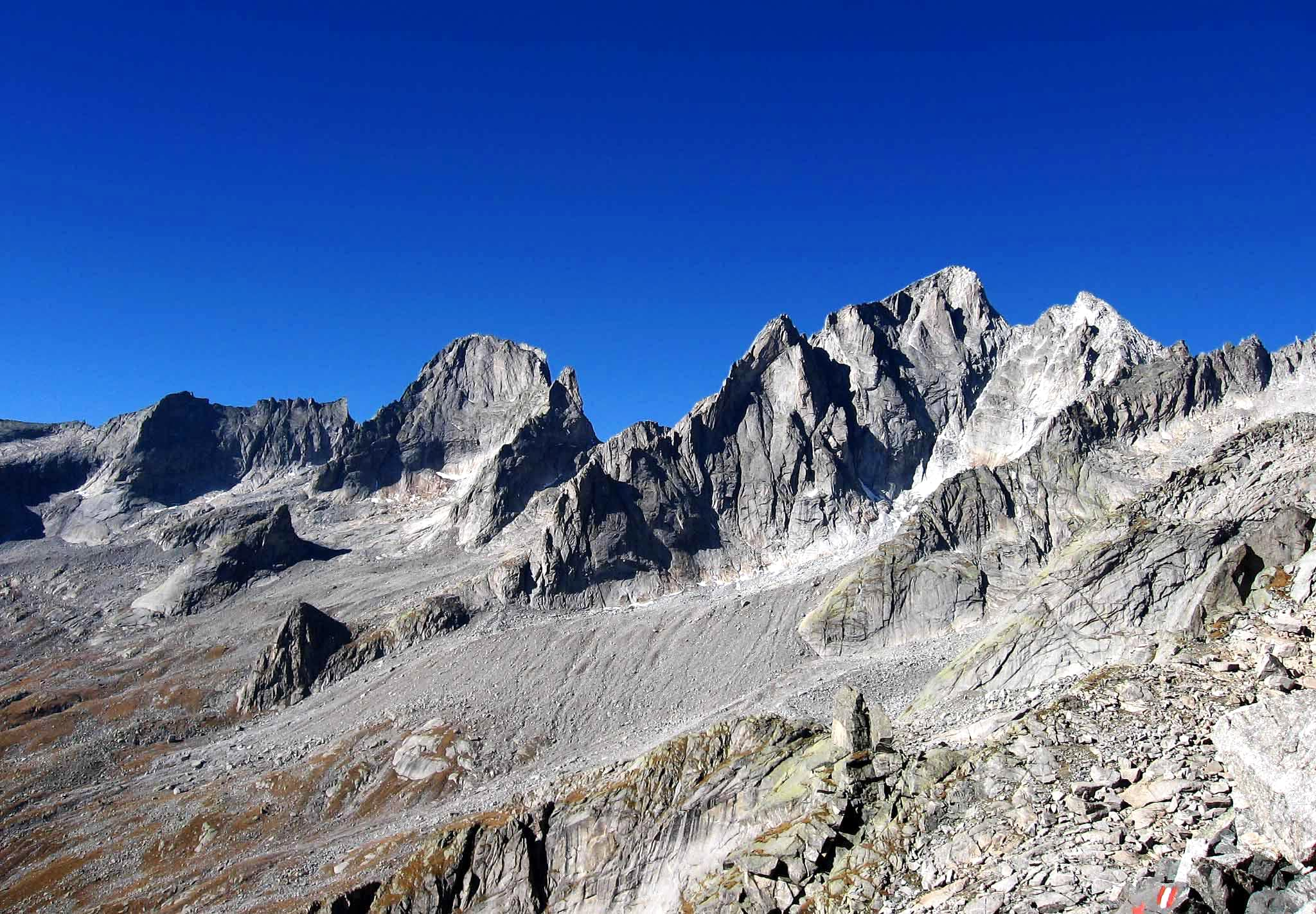 Alpine refuges of Val Masino alps