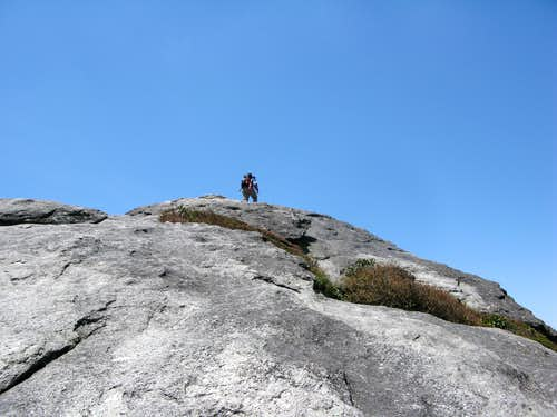 The windy summit of McRae Peak