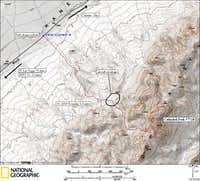 Cathedral Peak route map