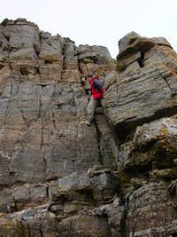 Ledges to the summit