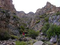 Gorge leading to the saddle