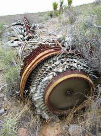 Jet wreckage