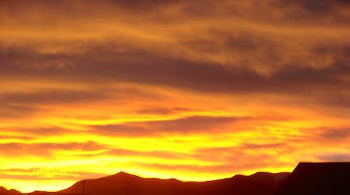 Winter Sunset on the Front Range