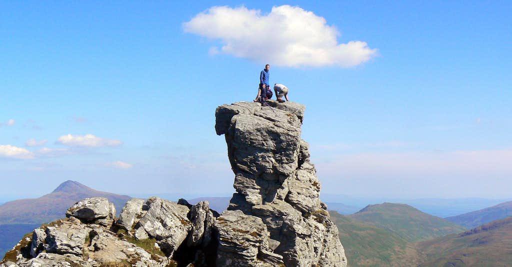 On the summit rocks