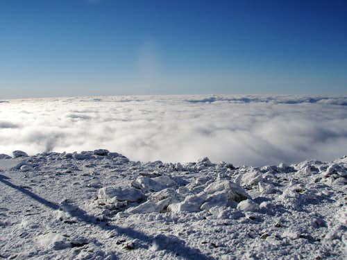 Undercast on Mount Washington Summit