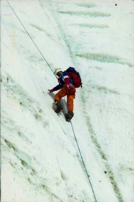 Me, on the icewall of Ulugh...