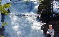 Spring runoff at Provo River Falls
