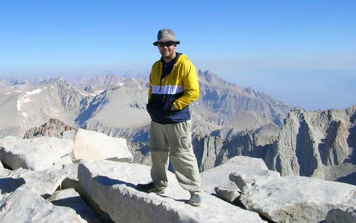 Me atop Mt. Whitney (14,497ft) after finishing the 200mi John Muir Trail