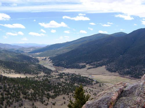 Tarryall Creek Valley from Sugarloaf Summit