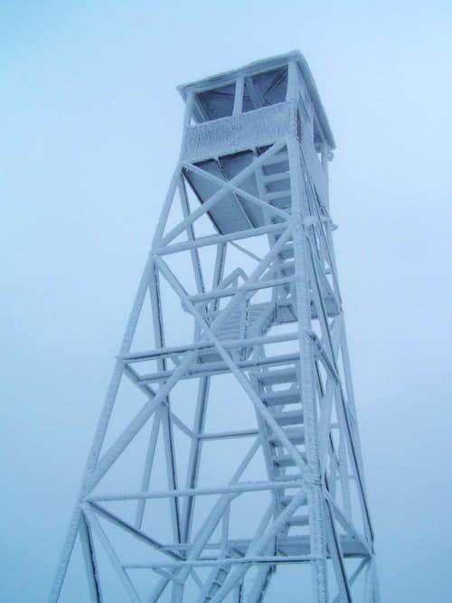 Hurricane Mtn. Fire Tower in Ice