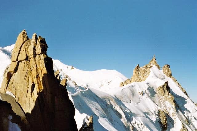 View of the Aiguille du Midi...