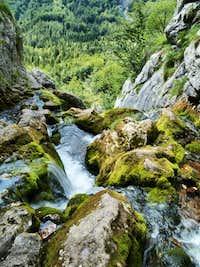 Izvir Soce (spring of the Soca river)