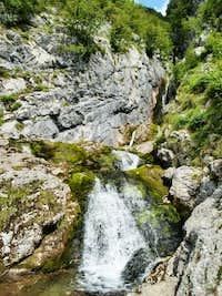 Izvir Soce (Waterfalls at the spring of Soca)