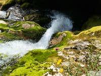 Waterfall at Izvir Soce