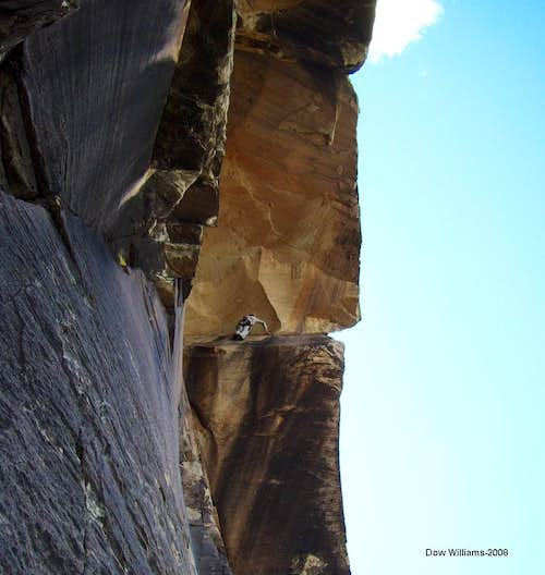 Overhanging Hangover, 5.10a