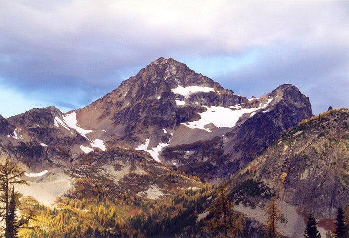 A close up of Black Peak from...