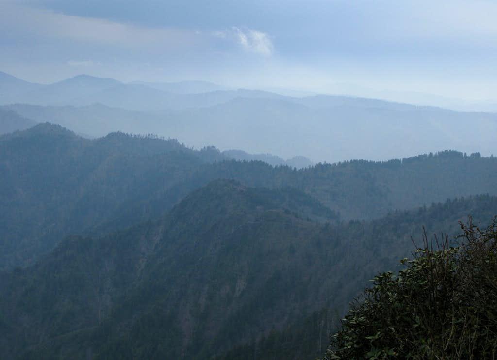 Smoky morning view...