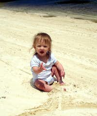 In the sand