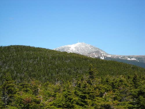 View of Mt. Washington . . .