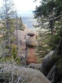 Rock minaret off of the Zinn Memorial Trail