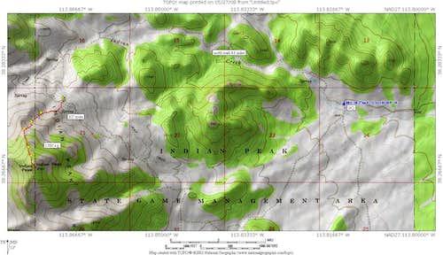 Indian Peak area