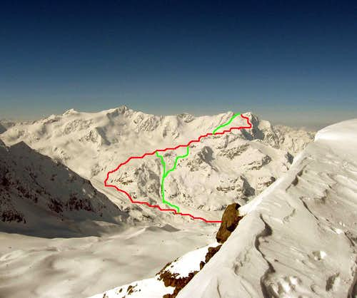 The route seen from Colle Pasquale.