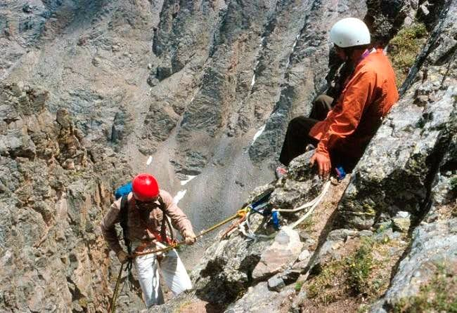 Rappeling down The...