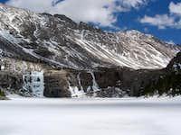 Frozen Willow Lake waterfall