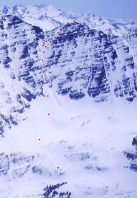 Lightning Pyramid ski route