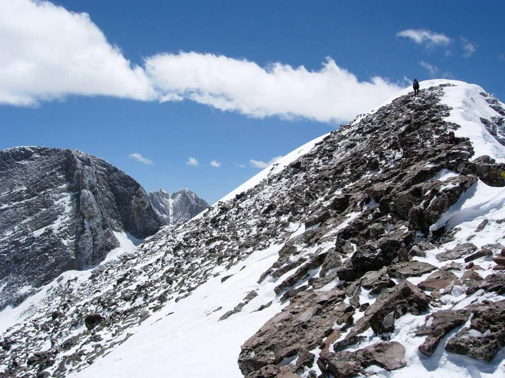 The final stretch to the summit
