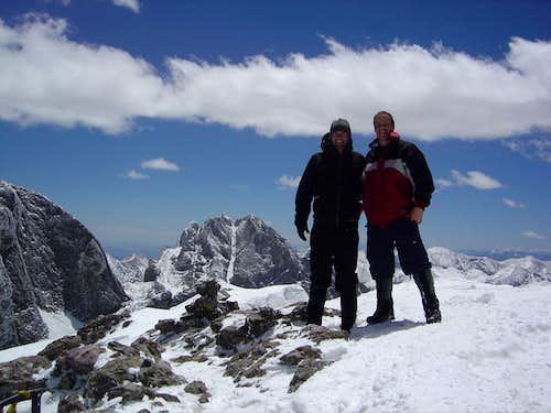 Rick and Matt on the summit