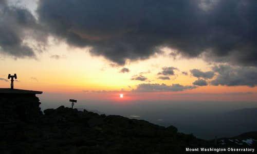 Mount Washington NH Sunset