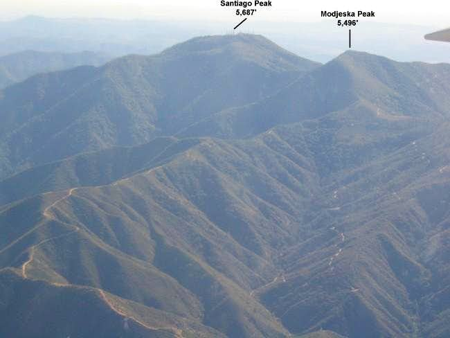 Aerial View of Santiago Peak...